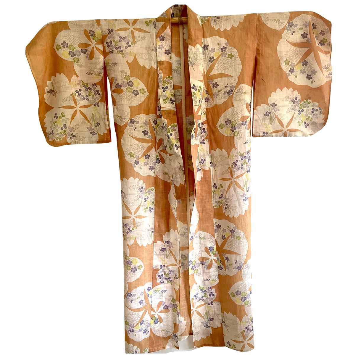 - Veste Kimono pour femme en lin - multicolore