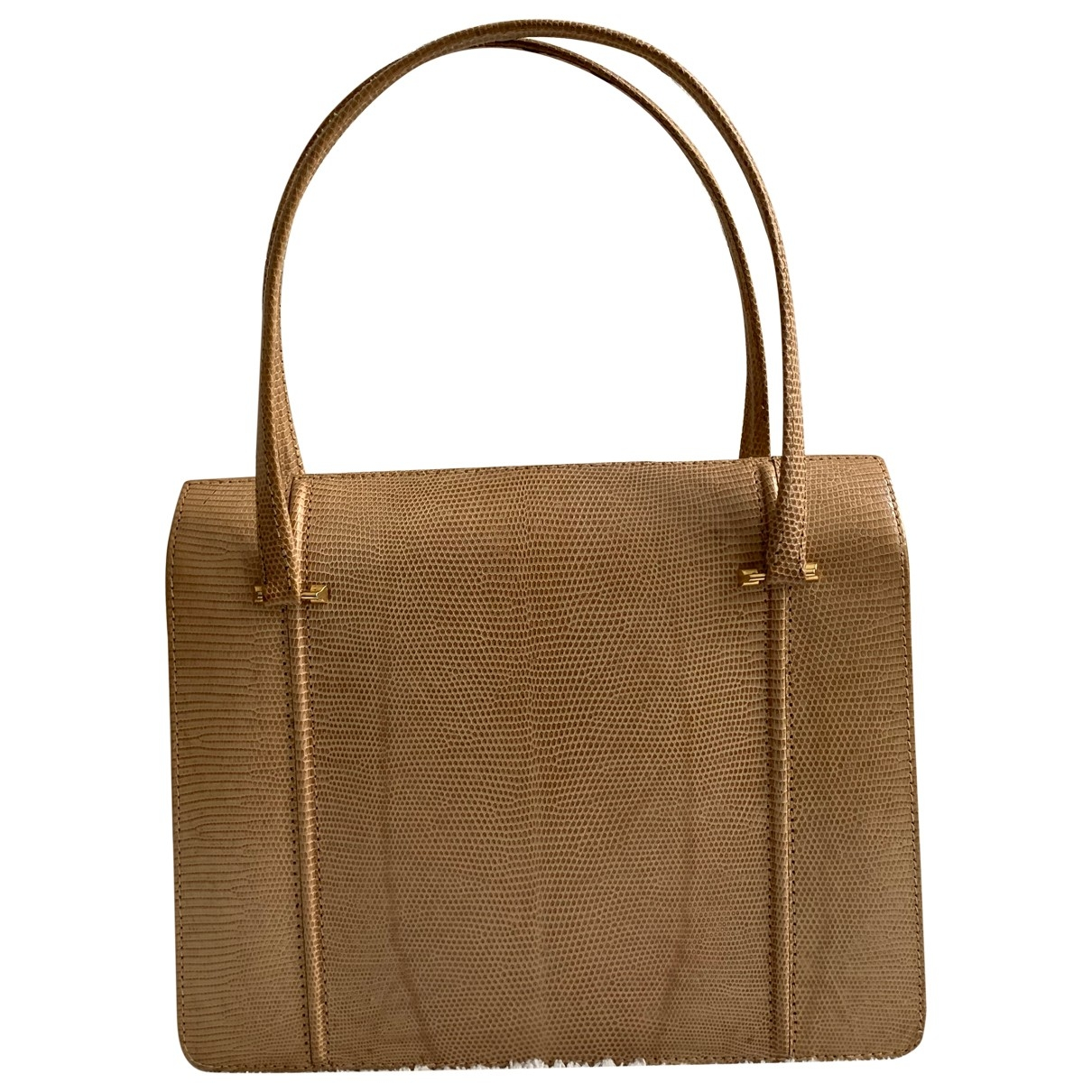 Non Signé / Unsigned \N Beige Lizard handbag for Women \N