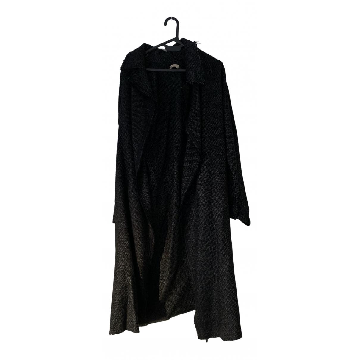 Forte_forte - Veste   pour femme en laine - gris