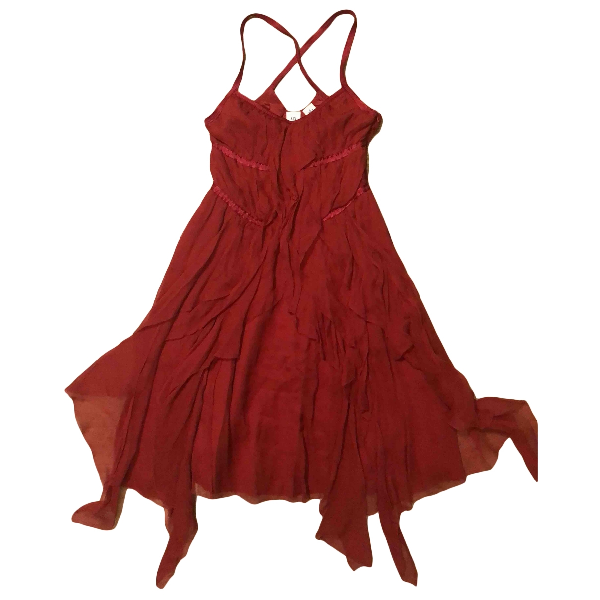 Emporio Armani - Robe   pour femme en soie - rouge