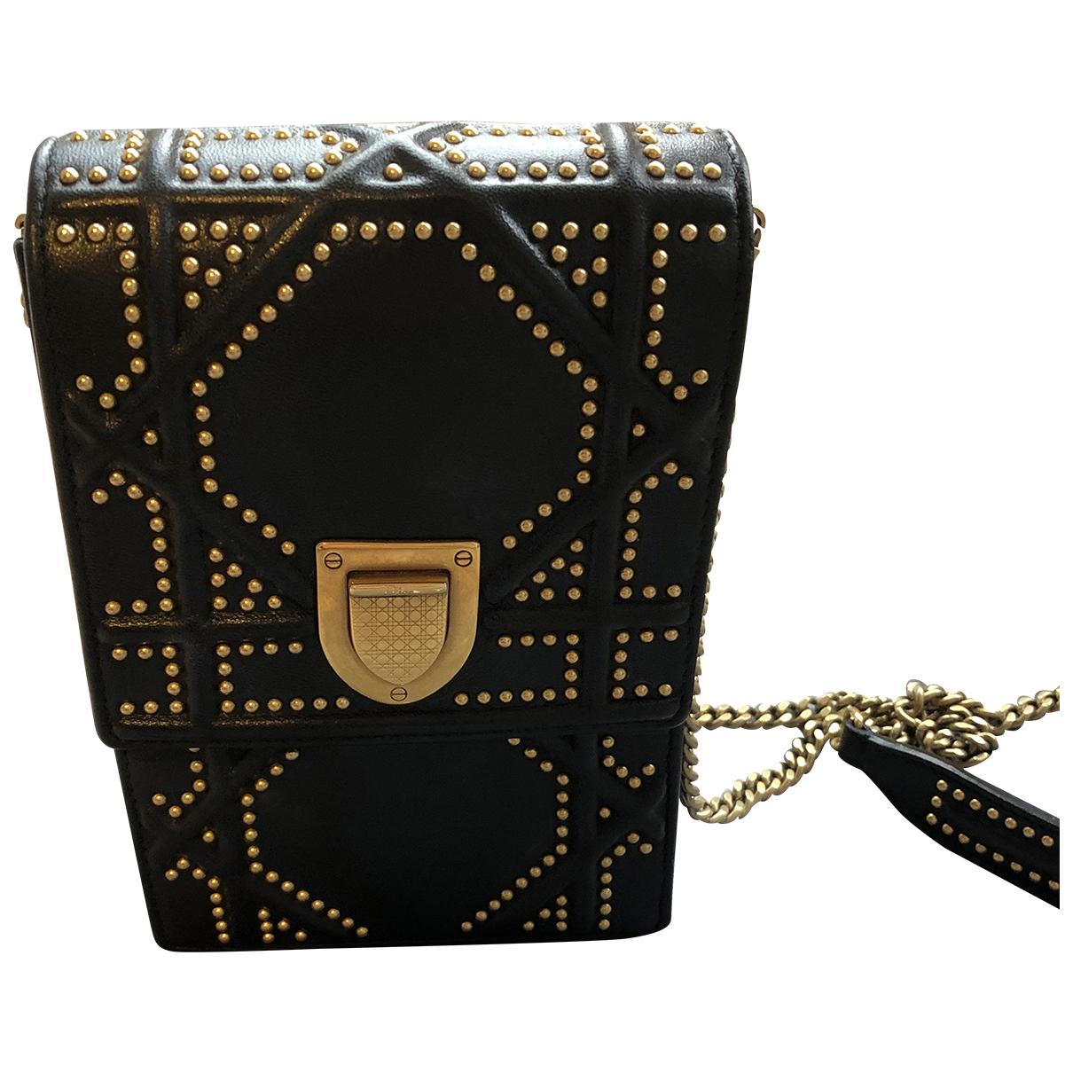 Dior Diorama Black Leather handbag for Women \N