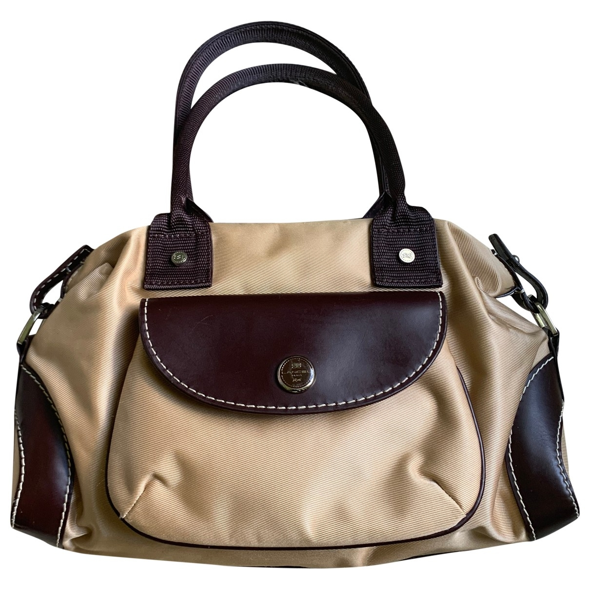 Lancel \N Handtasche in  Beige Leinen