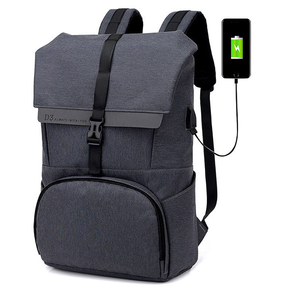 Oxford Large Capacity 17 Inches Laptop Bag USB Charging Backpack For Men