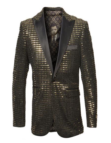 Men's Long Length Faux Fur Coat Full Length Topcoat Matching Hat Black