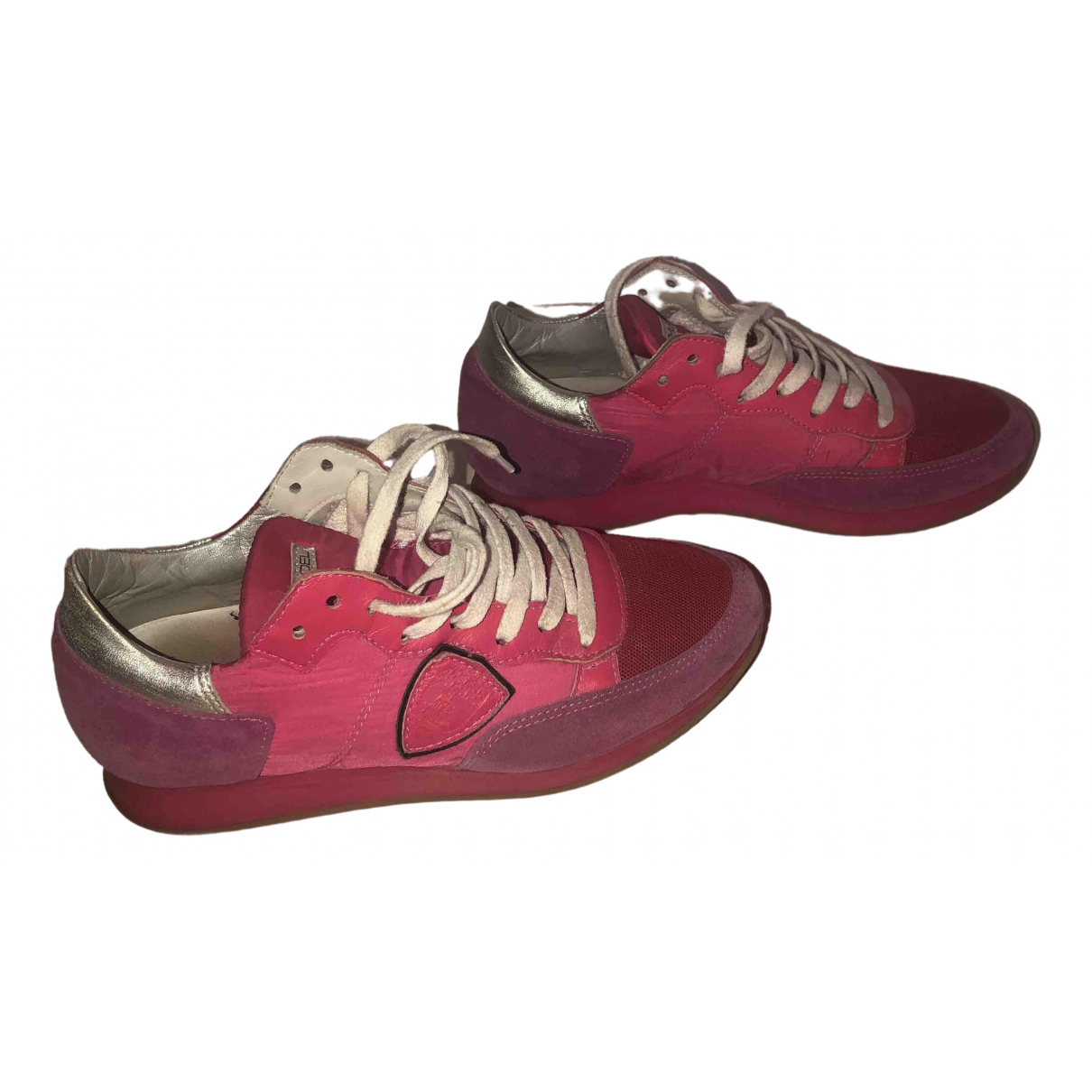 Philippe Model \N Sneakers in  Rosa Leder