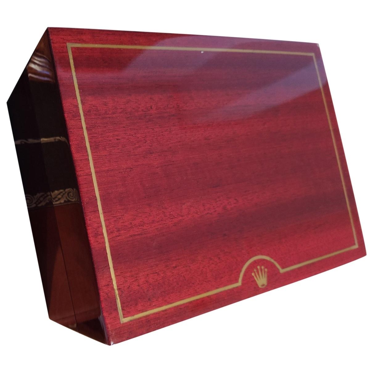 Rolex - Objets & Deco   pour lifestyle en bois - rouge