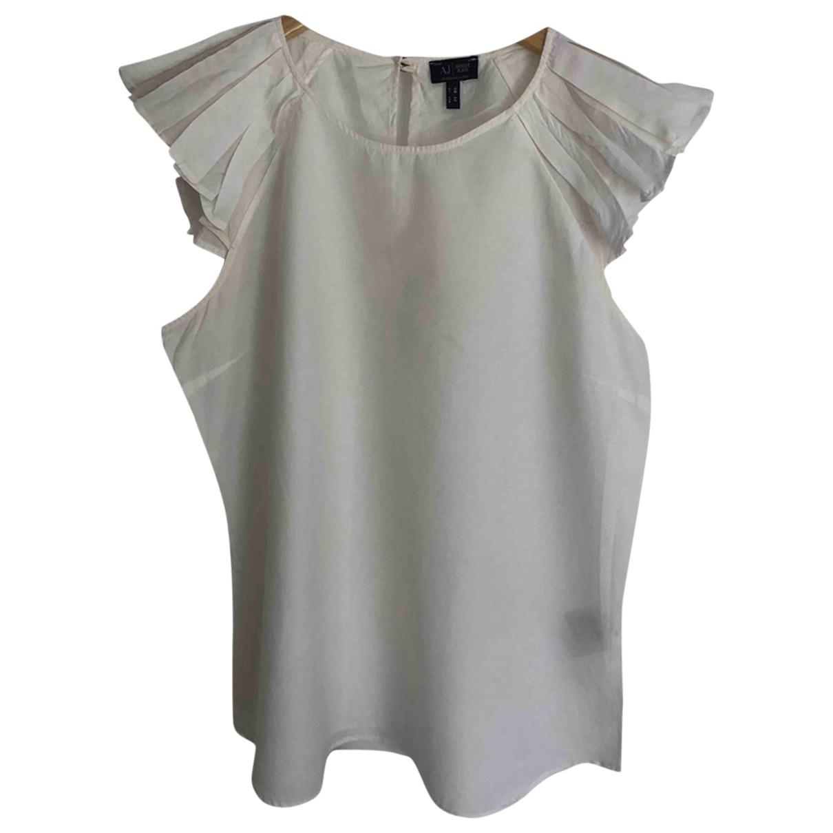 Armani Jeans \N Ecru Cotton  top for Women 48 IT