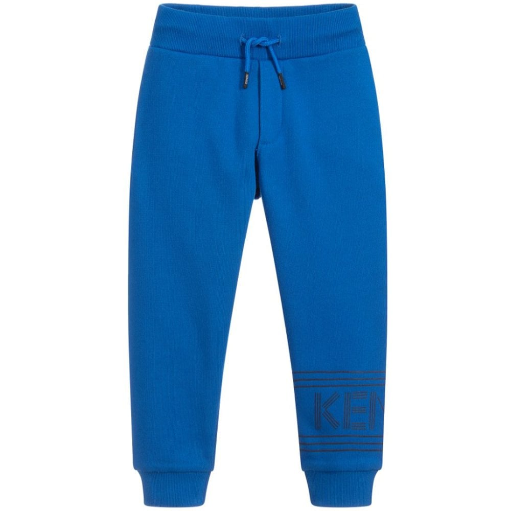 Kenzo Kids Paris Side Logo Joggers Blue Colour: BLUE, Size: 8 YEARS