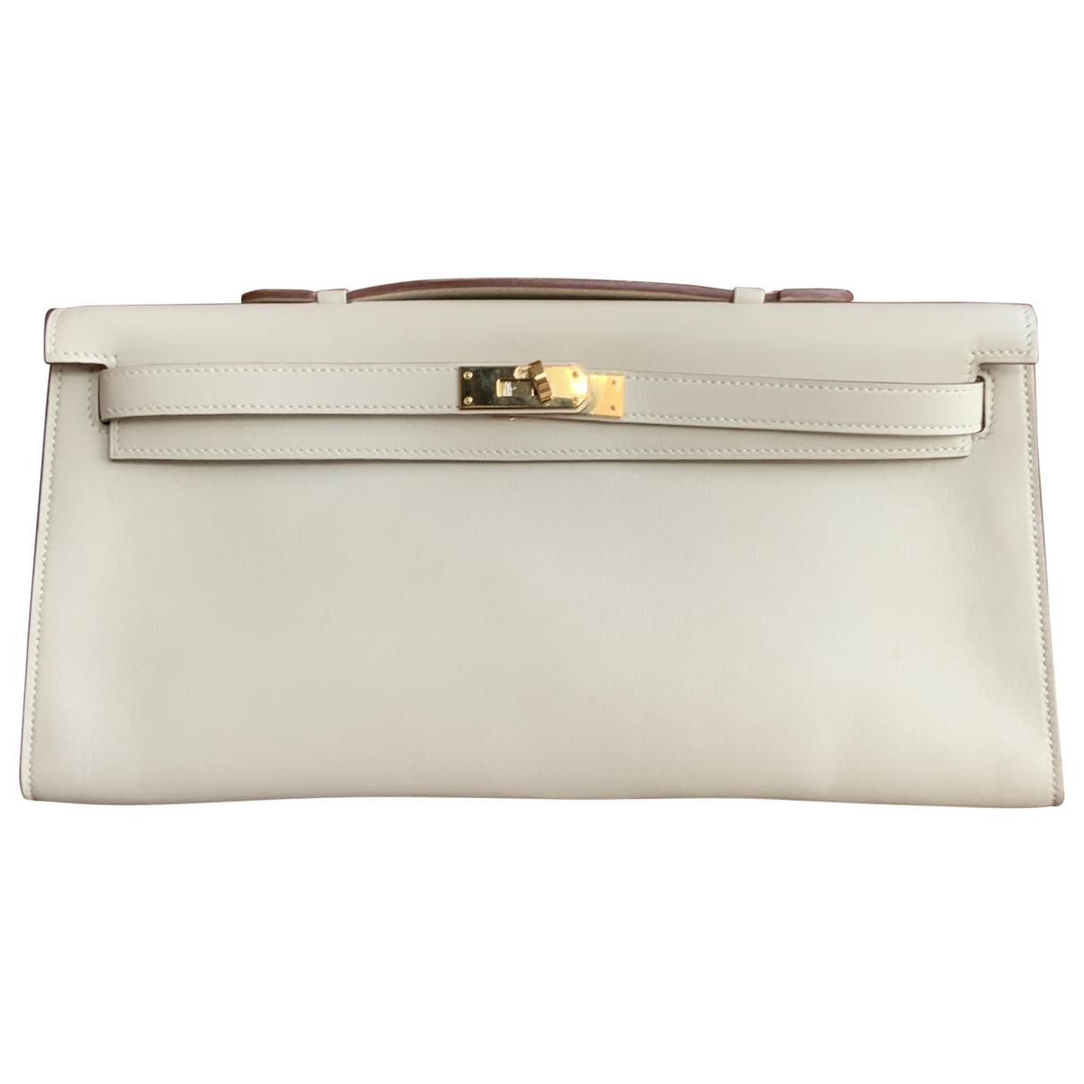 Hermes \N Handtasche in  Ecru Leder