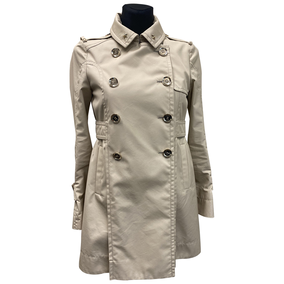 Gucci N Beige Cotton Trench coat for Women 38 IT