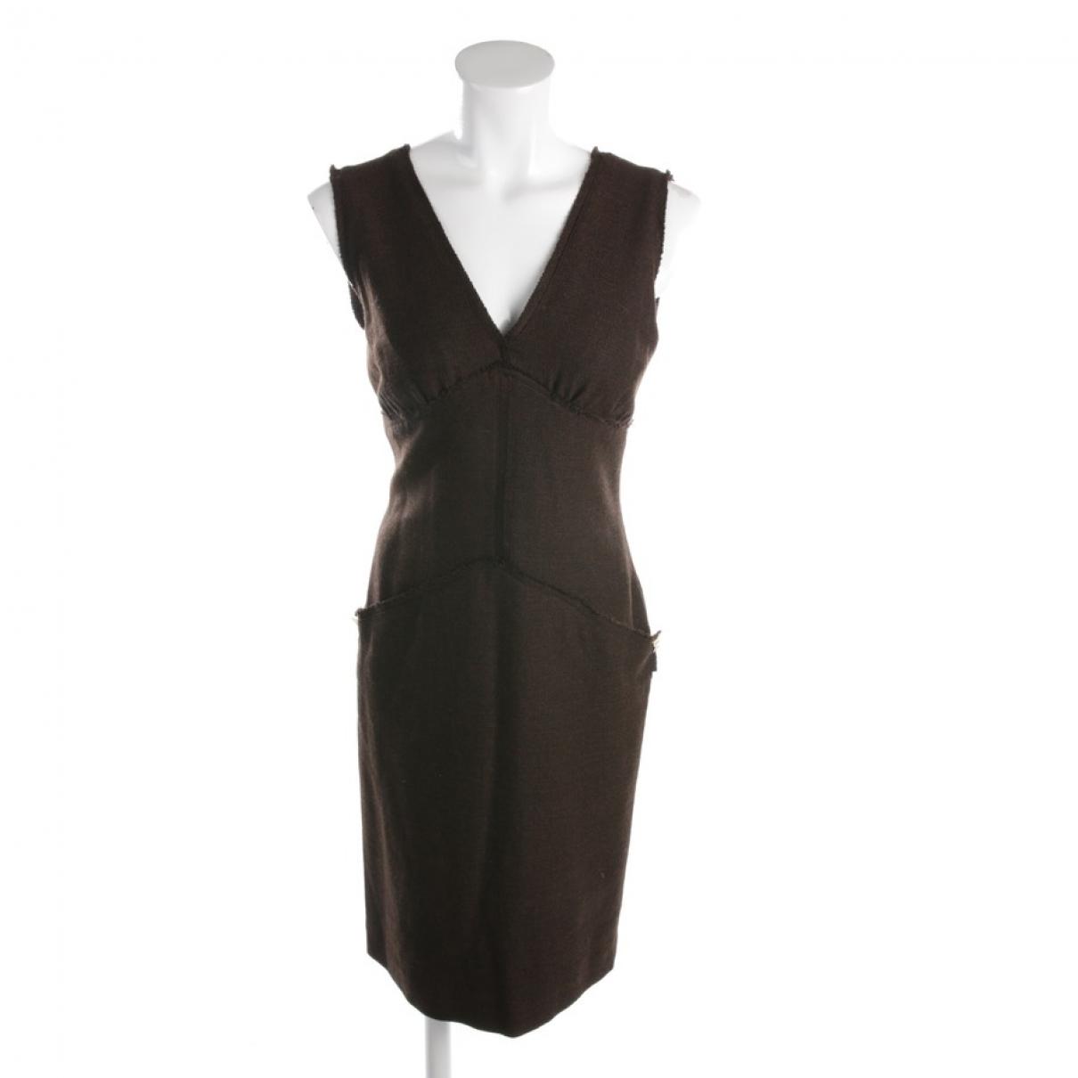 Fendi - Robe   pour femme en coton - marron
