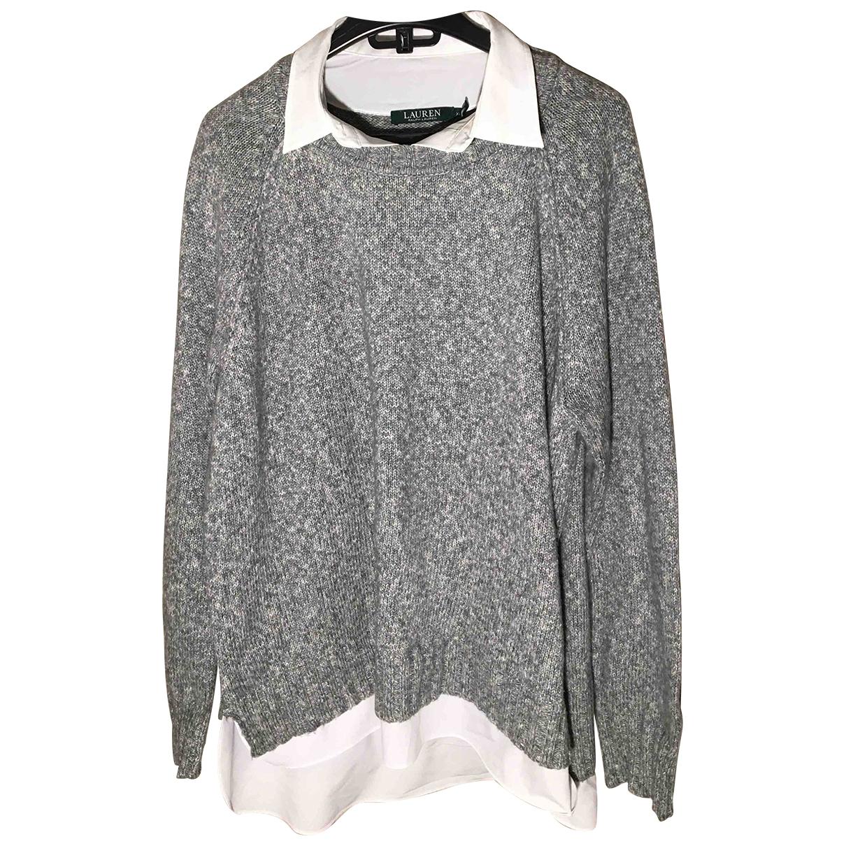 Lauren Ralph Lauren - Pull   pour femme en coton - gris