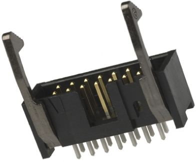 TE Connectivity , AMP-LATCH, 6 Way, 2 Row, Straight PCB Header