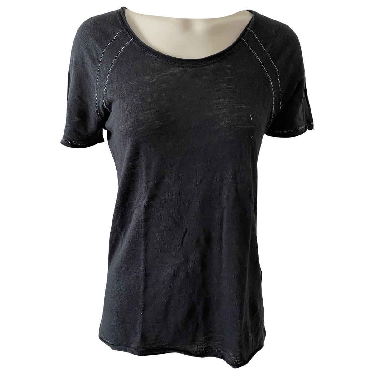 Berenice - Top   pour femme en lin - noir