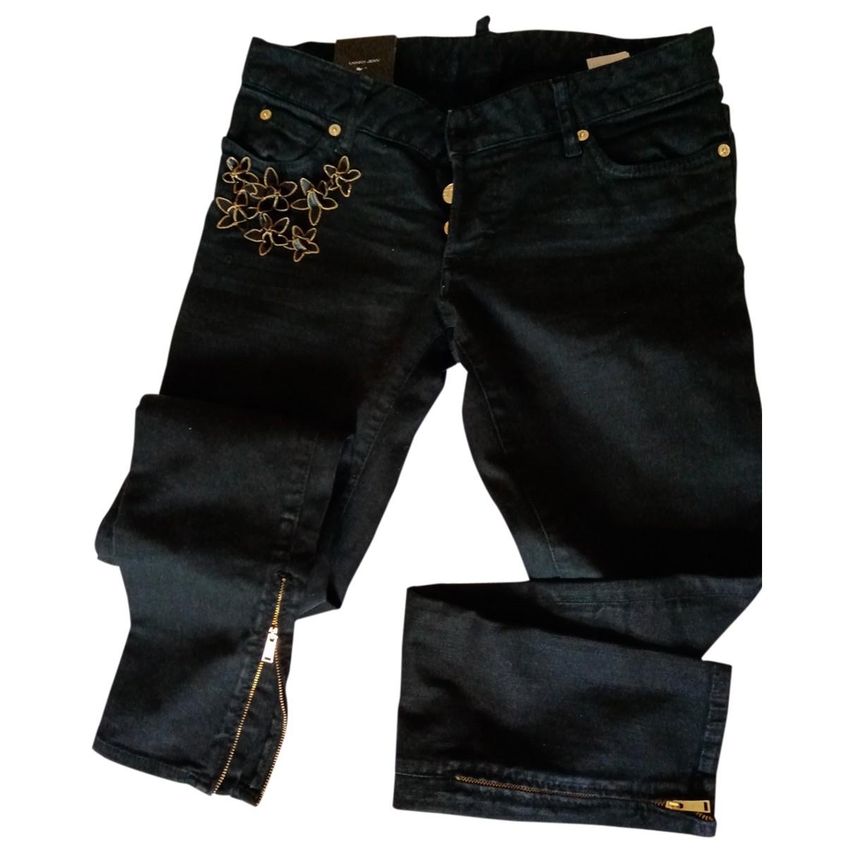 Dsquared2 \N Black Cotton Jeans for Women 38 FR