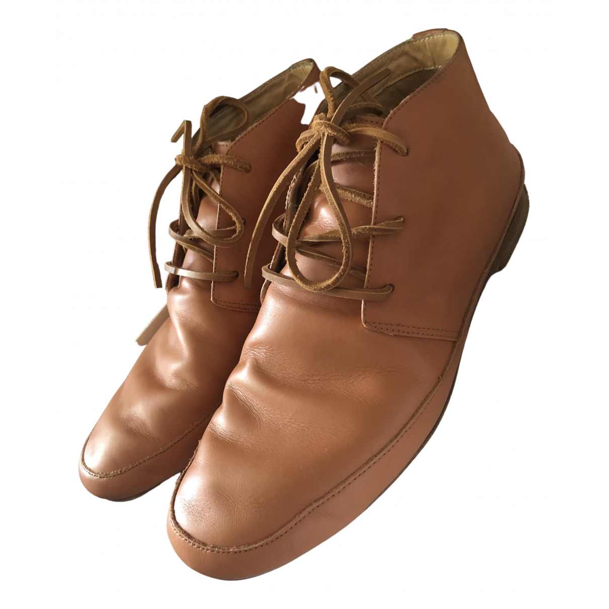 Maison Martin Margiela \N Camel Leather Boots for Men 42 EU
