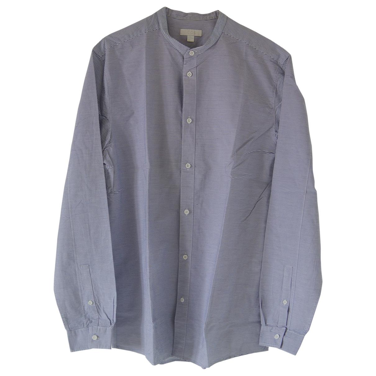 Cos \N Blue Cotton Shirts for Men M International