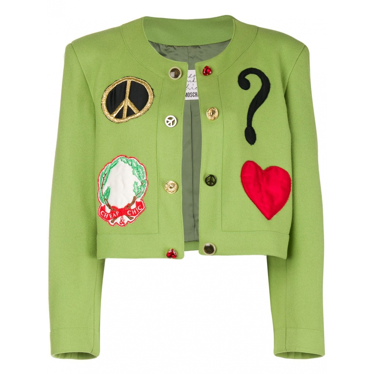 Moschino Cheap And Chic \N Jacke in  Gruen Wolle