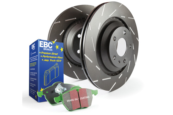 EBC Brakes S4KF1549 S4KF Kit Number Front Disc Brake Pad and Rotor Kit DP7814+USR415 Land Rover Range Rover Front 1990-1995