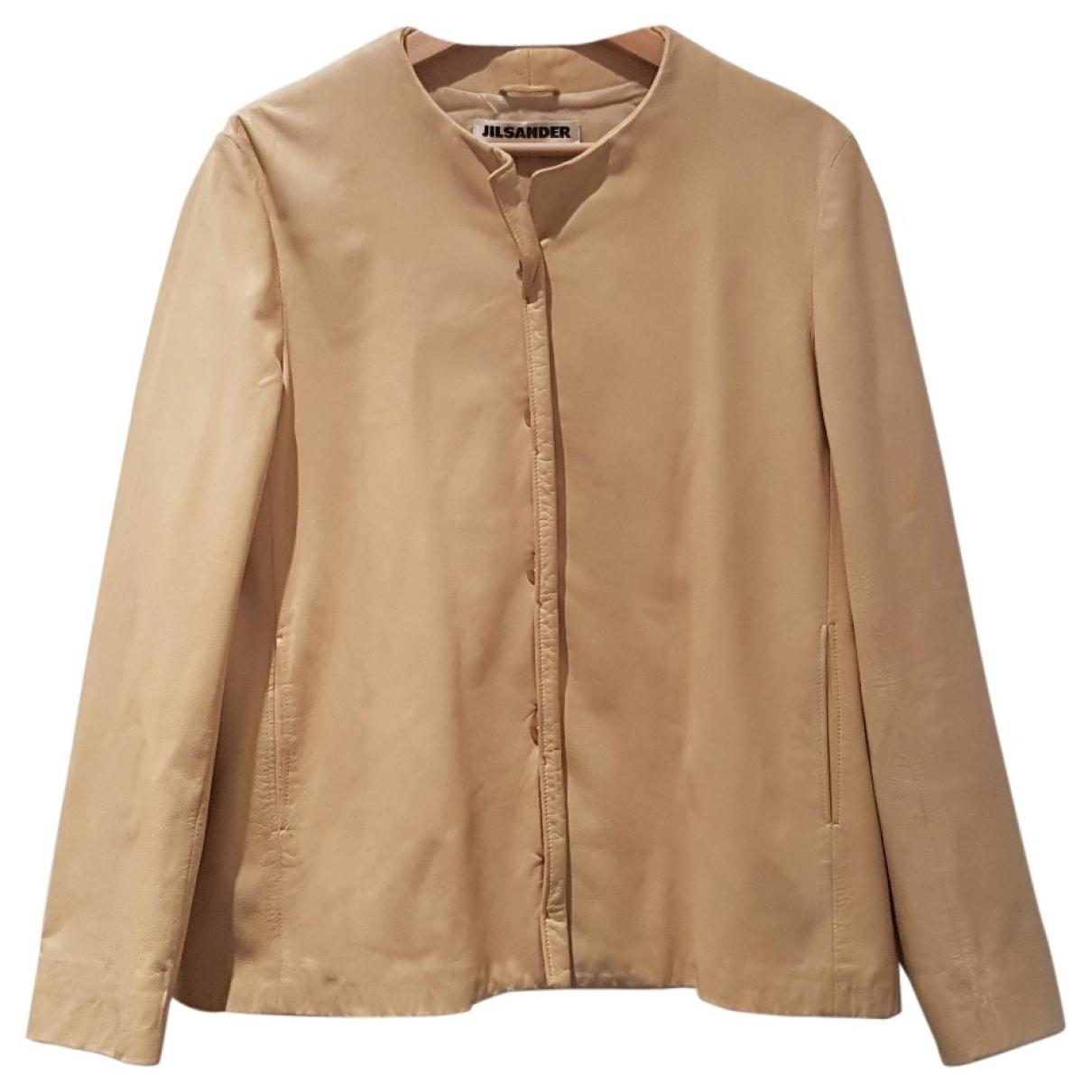 Jil Sander \N Ecru Leather jacket for Women 6 US