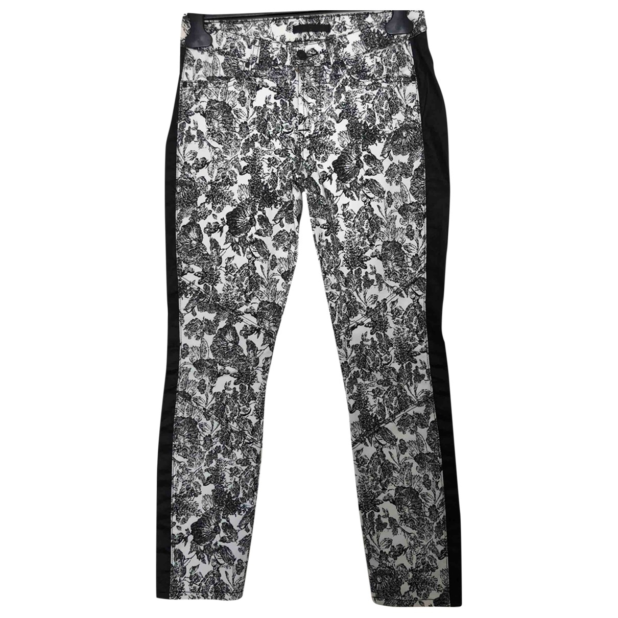 7 For All Mankind \N Multicolour Cotton Trousers for Women 36 FR