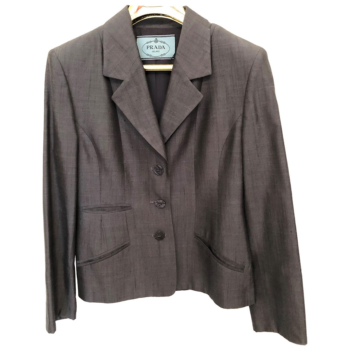 Prada \N Blue Silk jacket for Women 44 IT