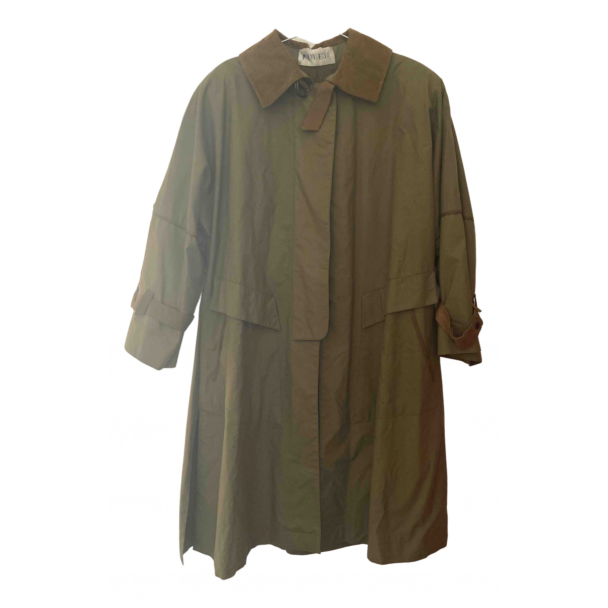 Non Signé / Unsigned Hippie Chic Green coat for Women S International