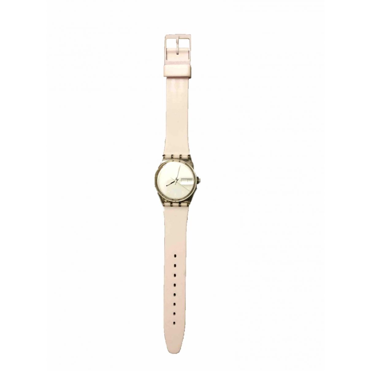 Swatch \N Uhr in  Weiss Stahl