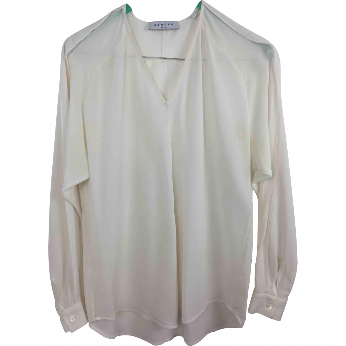Sandro \N White Silk  top for Women 1 0-5