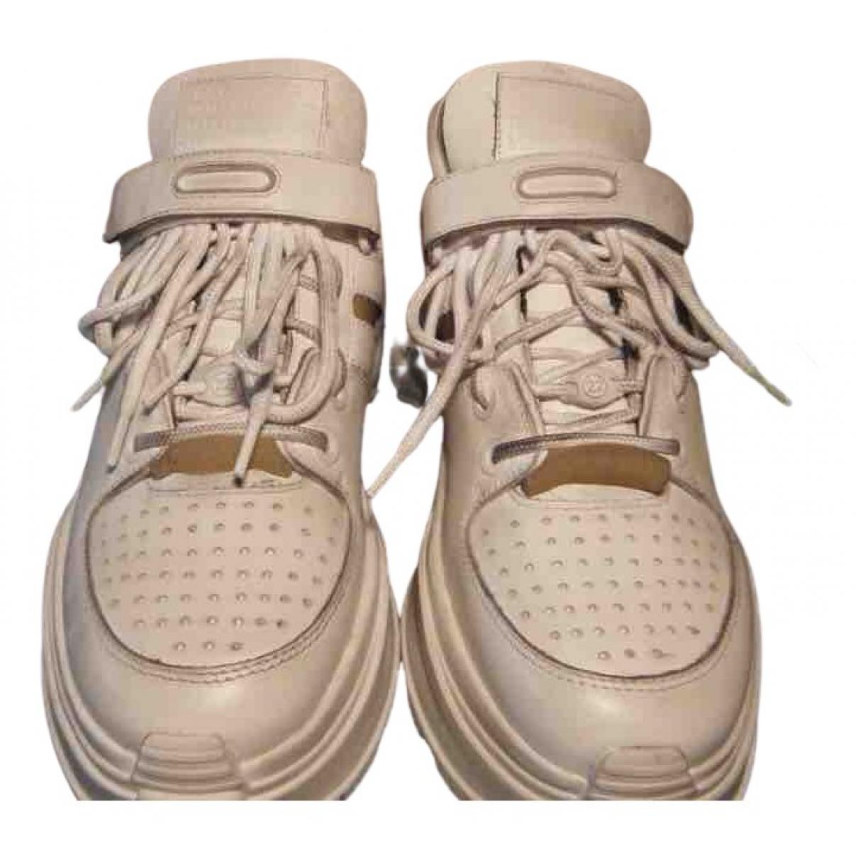 Maison Martin Margiela - Baskets   pour femme en cuir - blanc