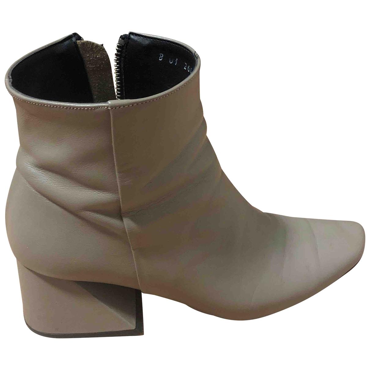 Yuul Yie - Boots   pour femme en cuir - beige