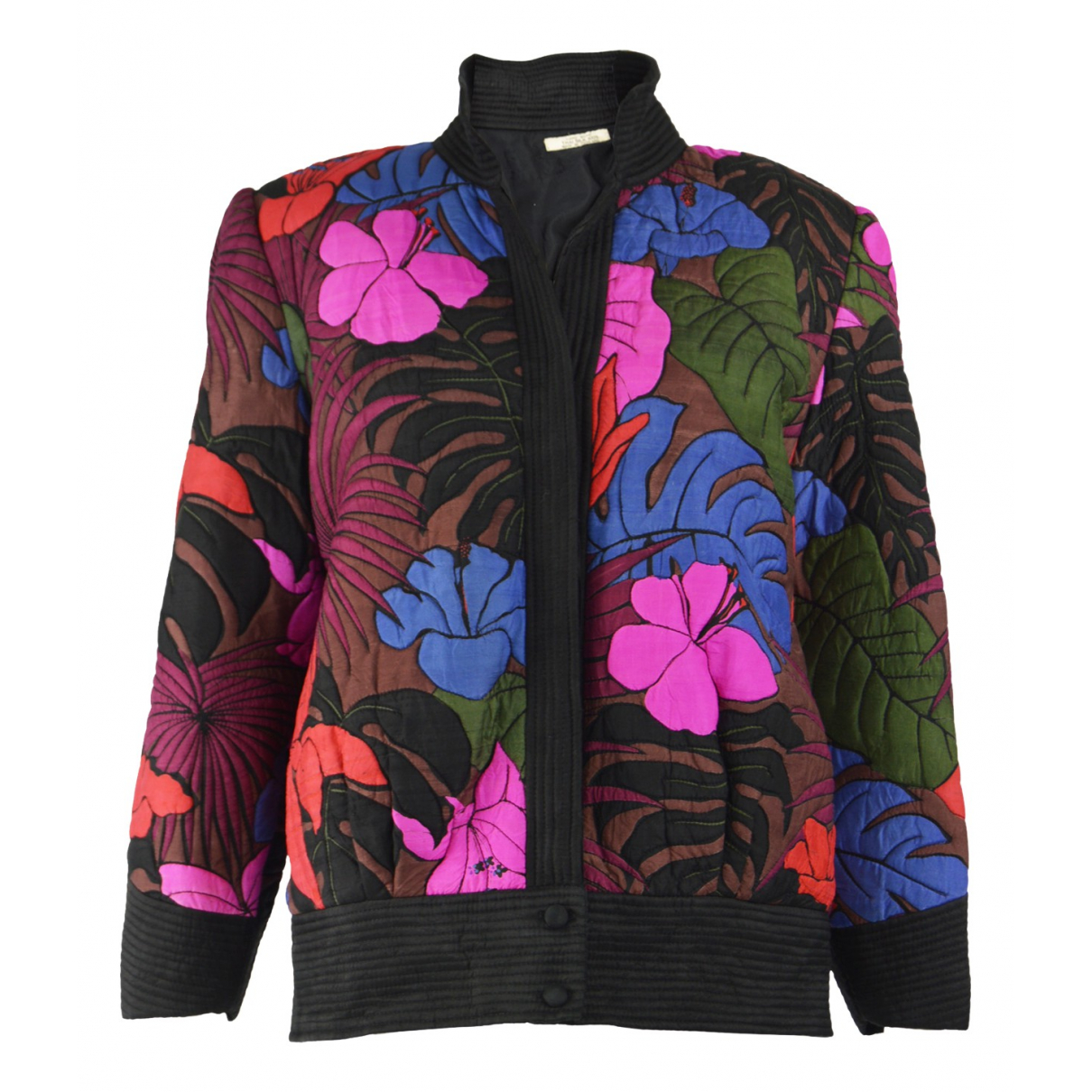 Non Signé / Unsigned N Multicolour Silk jacket for Women L International