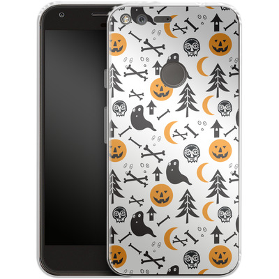 Google Pixel XL Silikon Handyhuelle - Halloween Mix von caseable Designs