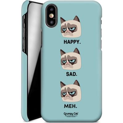 Apple iPhone XS Smartphone Huelle - Facial Expressions von Grumpy Cat