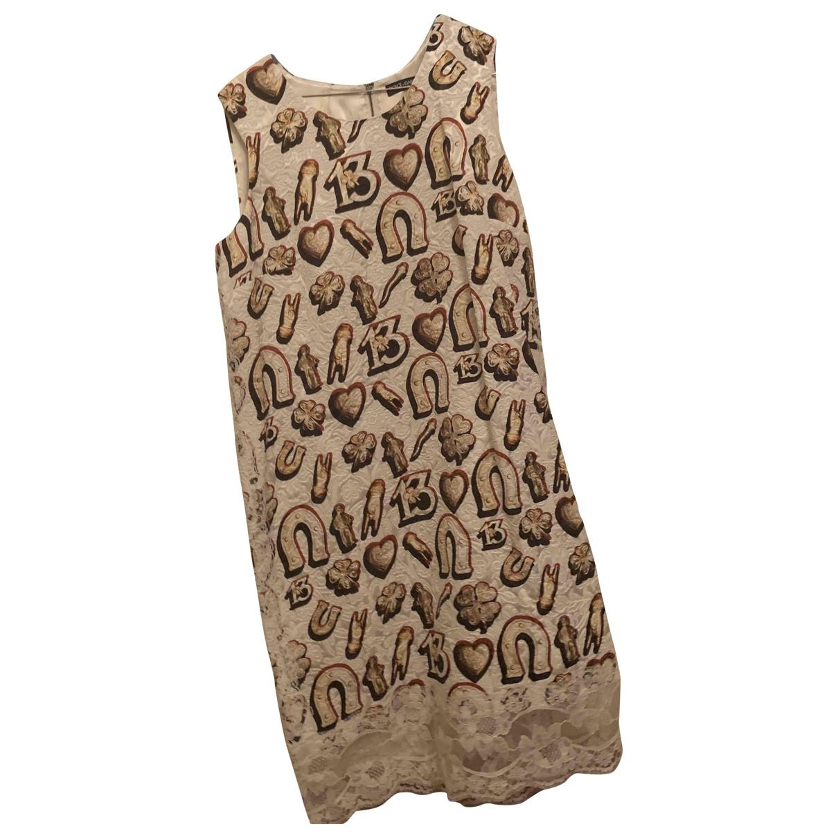 Dolce & Gabbana \N Beige Cotton dress for Women 46 IT