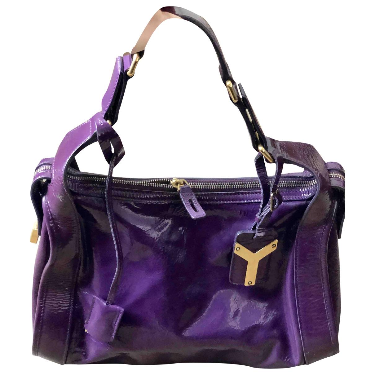 Saint Laurent - Sac a main   pour femme en cuir verni - violet