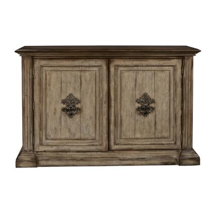 D153118 Hand Painted Traditional Distressed Two Door Accent Storage Console In