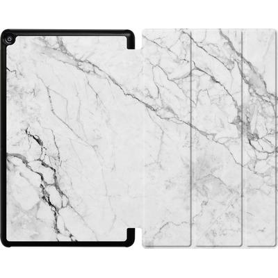 Amazon Fire HD 10 (2018) Tablet Smart Case - White Marble von caseable Designs