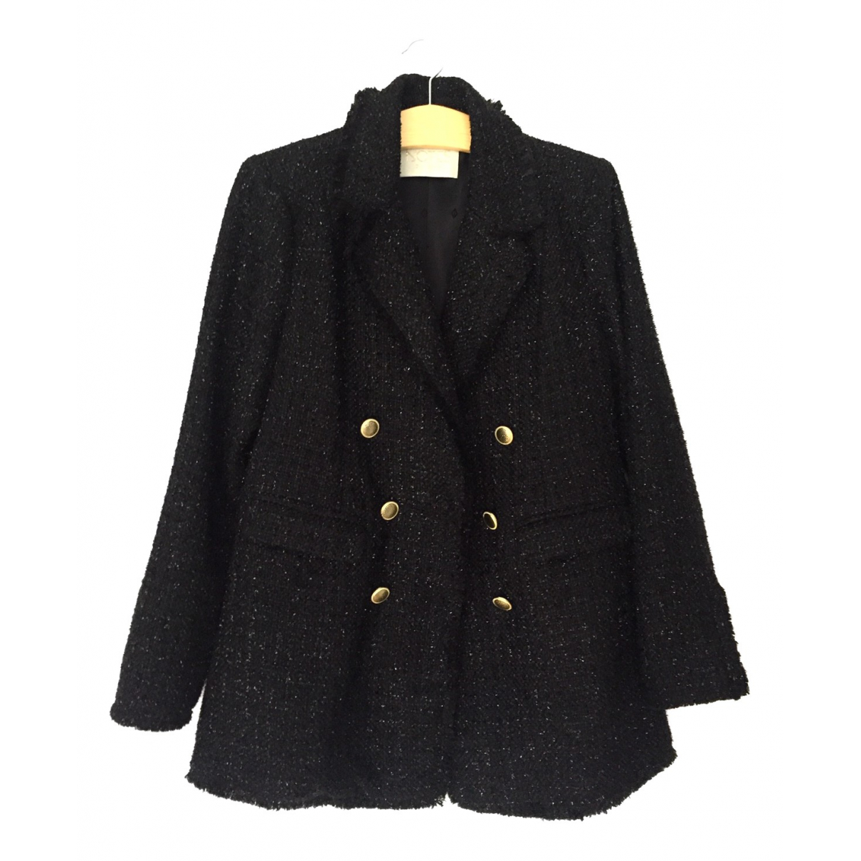 Non Signé / Unsigned N Black coat for Women 40 FR