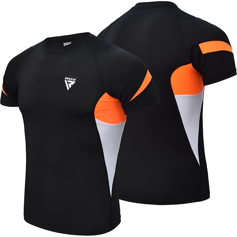 RDX S3 Base Layer Compression Rash Guard X Petite Orange Neoprene