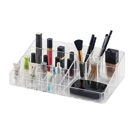 Home Basics Deluxe Make-up Tray, One Size , Multiple Colors