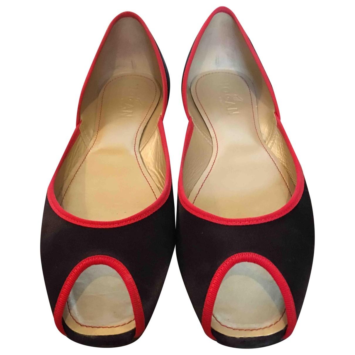 Hogan \N Purple Cloth Ballet flats for Women 38.5 EU