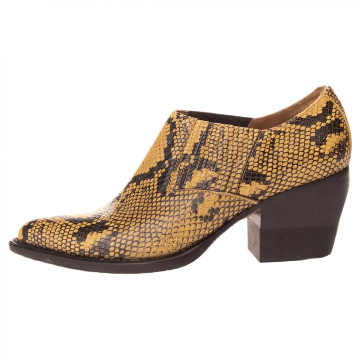 Chloe - Boots   pour femme en cuir - beige