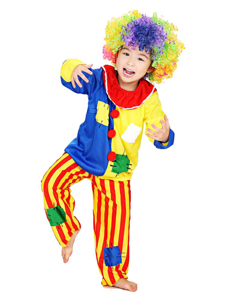 Milanoo Mardi Gras Kids Easy Clown Costume Child Circus Cosplay Ourfits