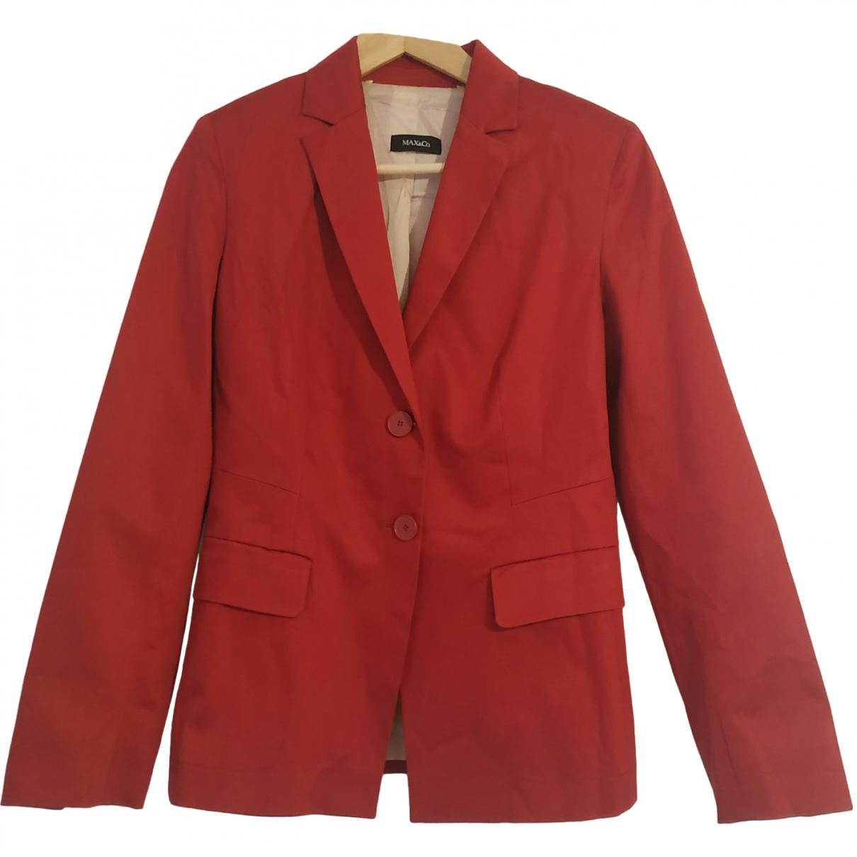 Max & Co \N Burgundy Cotton jacket for Women 10 UK