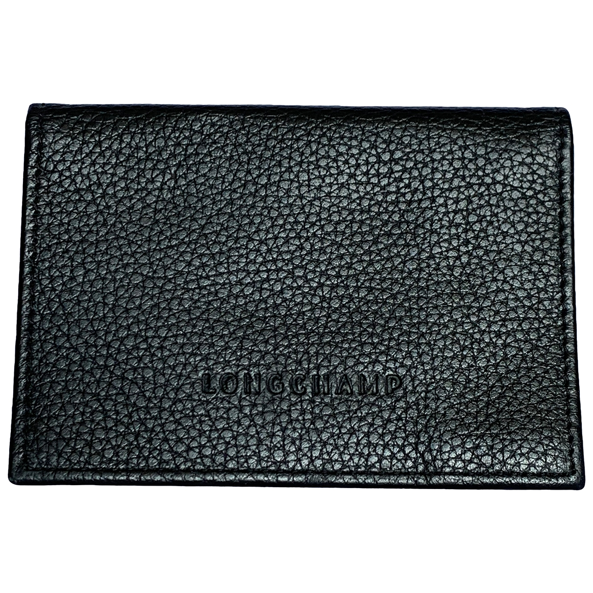 Longchamp \N Black Leather Purses, wallet & cases for Women \N