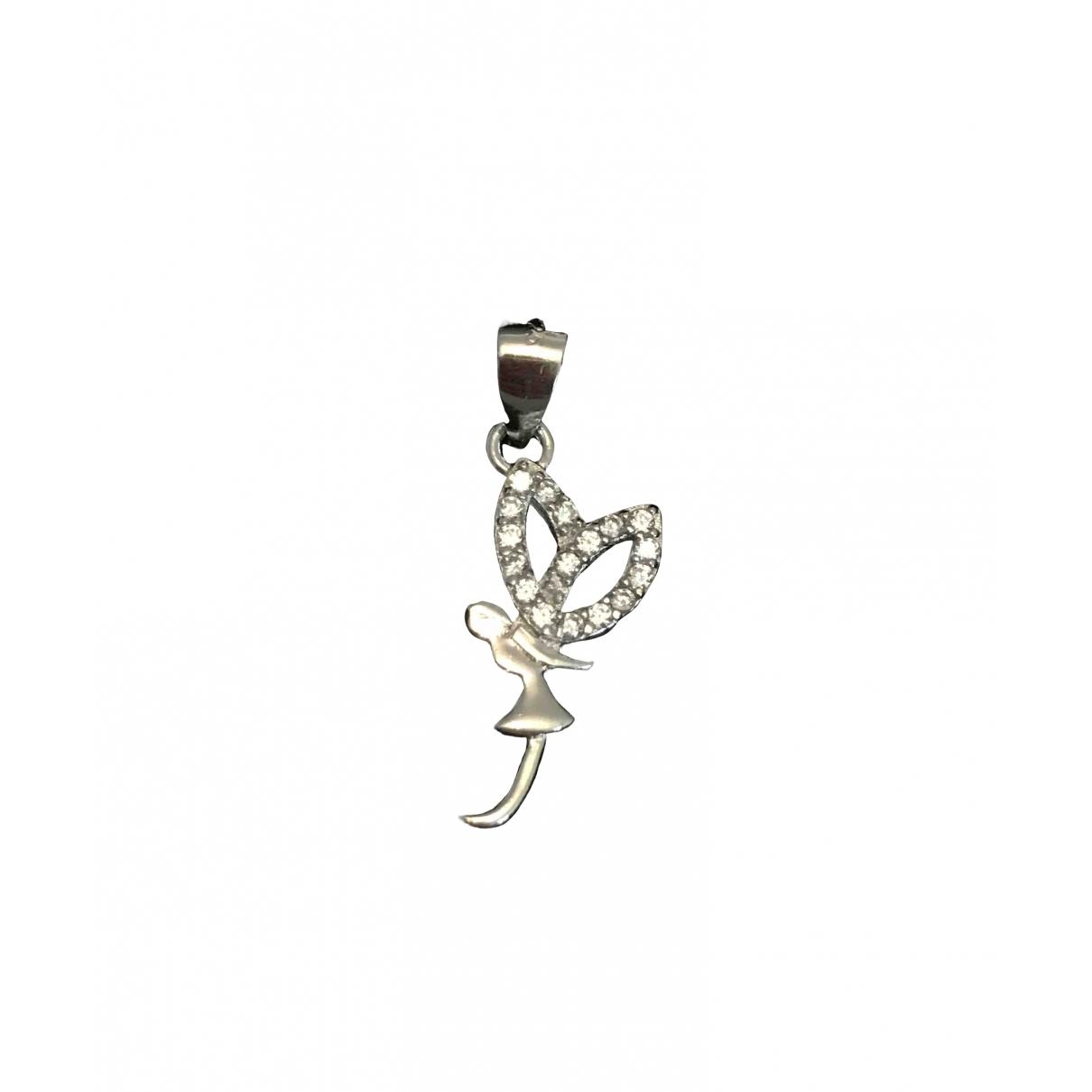 Non Signe / Unsigned Motifs Floraux Anhaenger in  Silber Silber