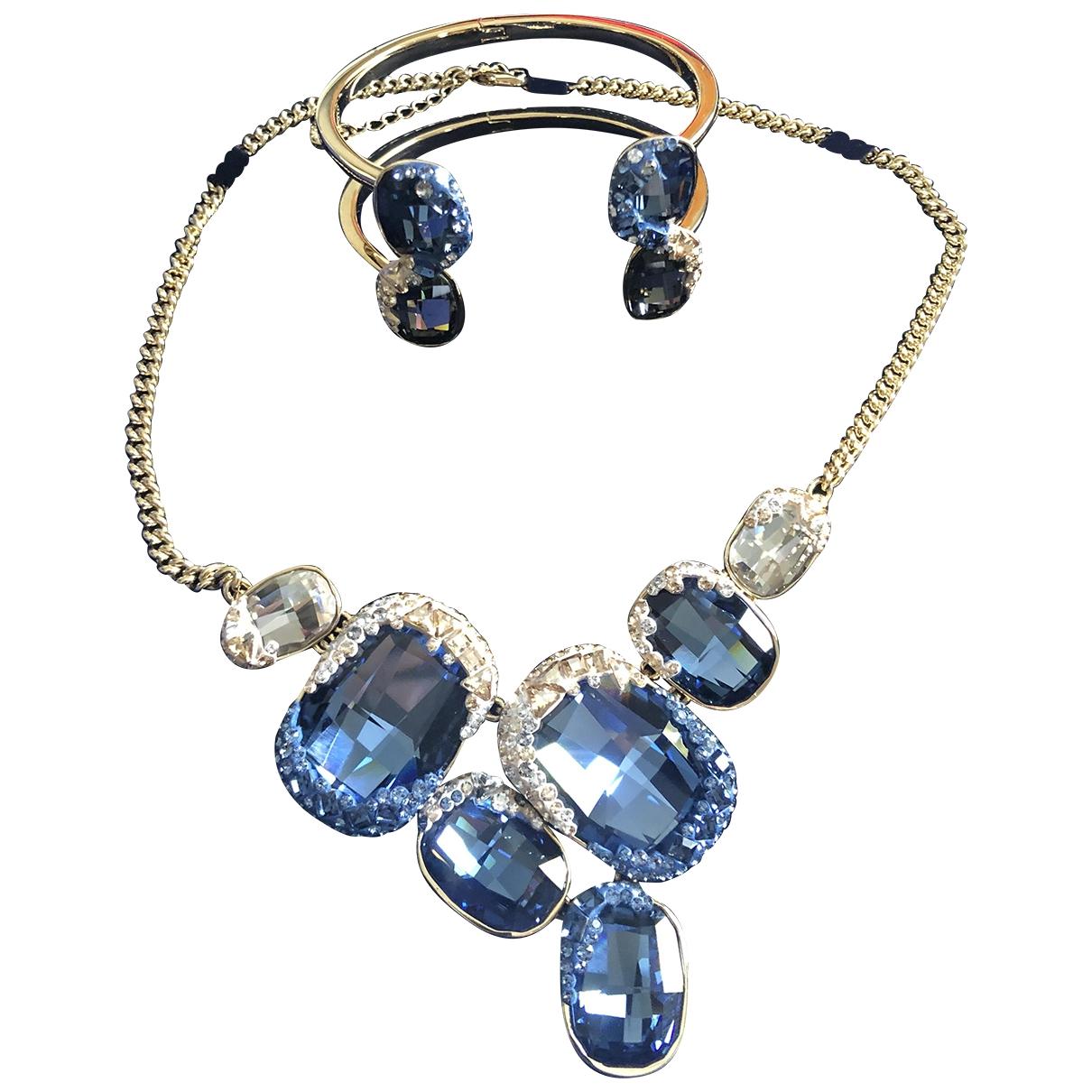 Swarovski \N Blue Gold plated Jewellery set for Women \N