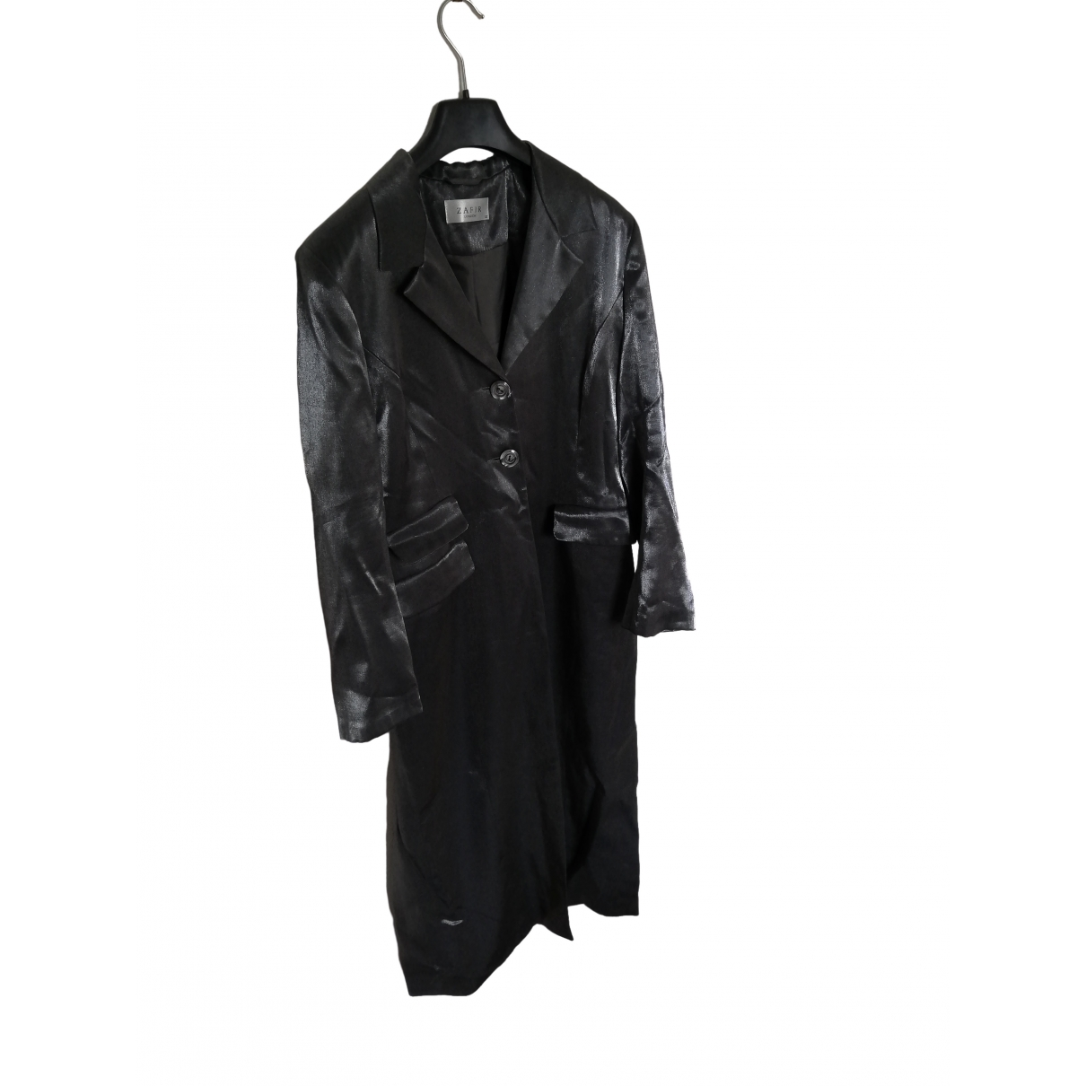 Non Signé / Unsigned \N Silver Velvet coat for Women 12 UK