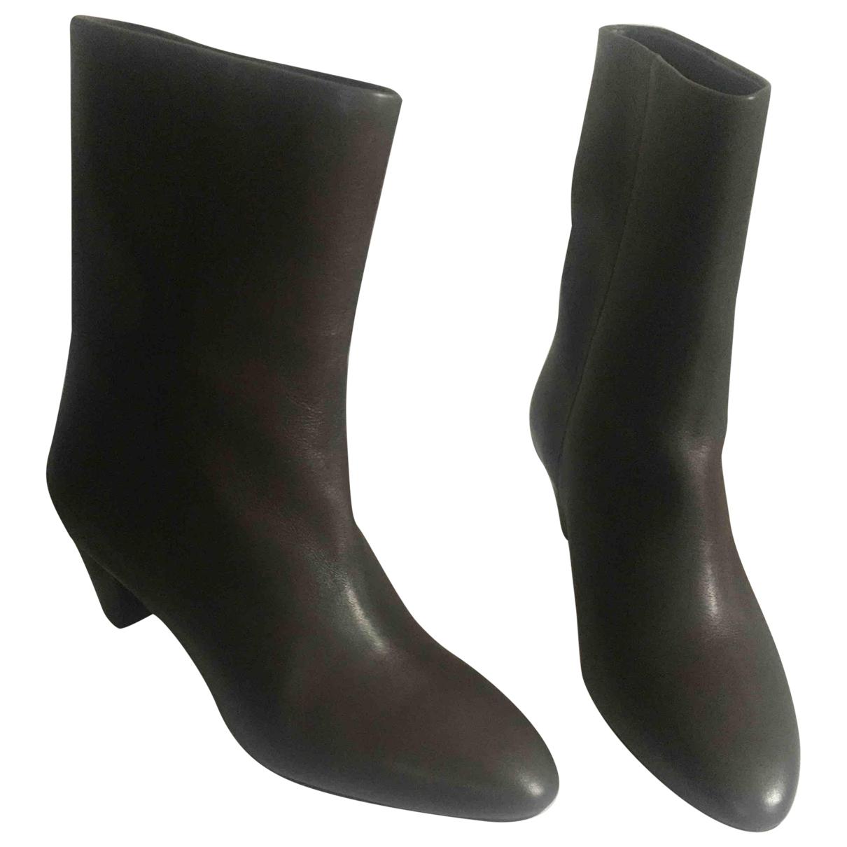 Isabel Marant - Boots   pour femme en cuir - marron